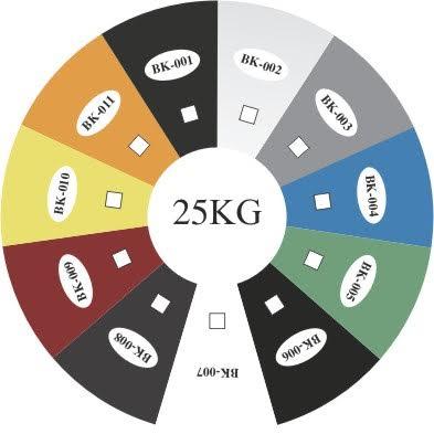 Bảng màu sơn vô cơ chịu nhiệt - BKV -2