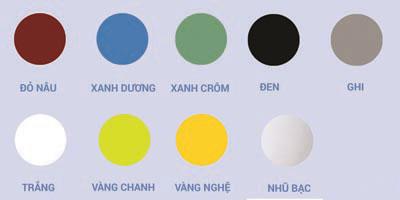 Bảng màu sơn vô cơ chịu nhiệt - BKV -1